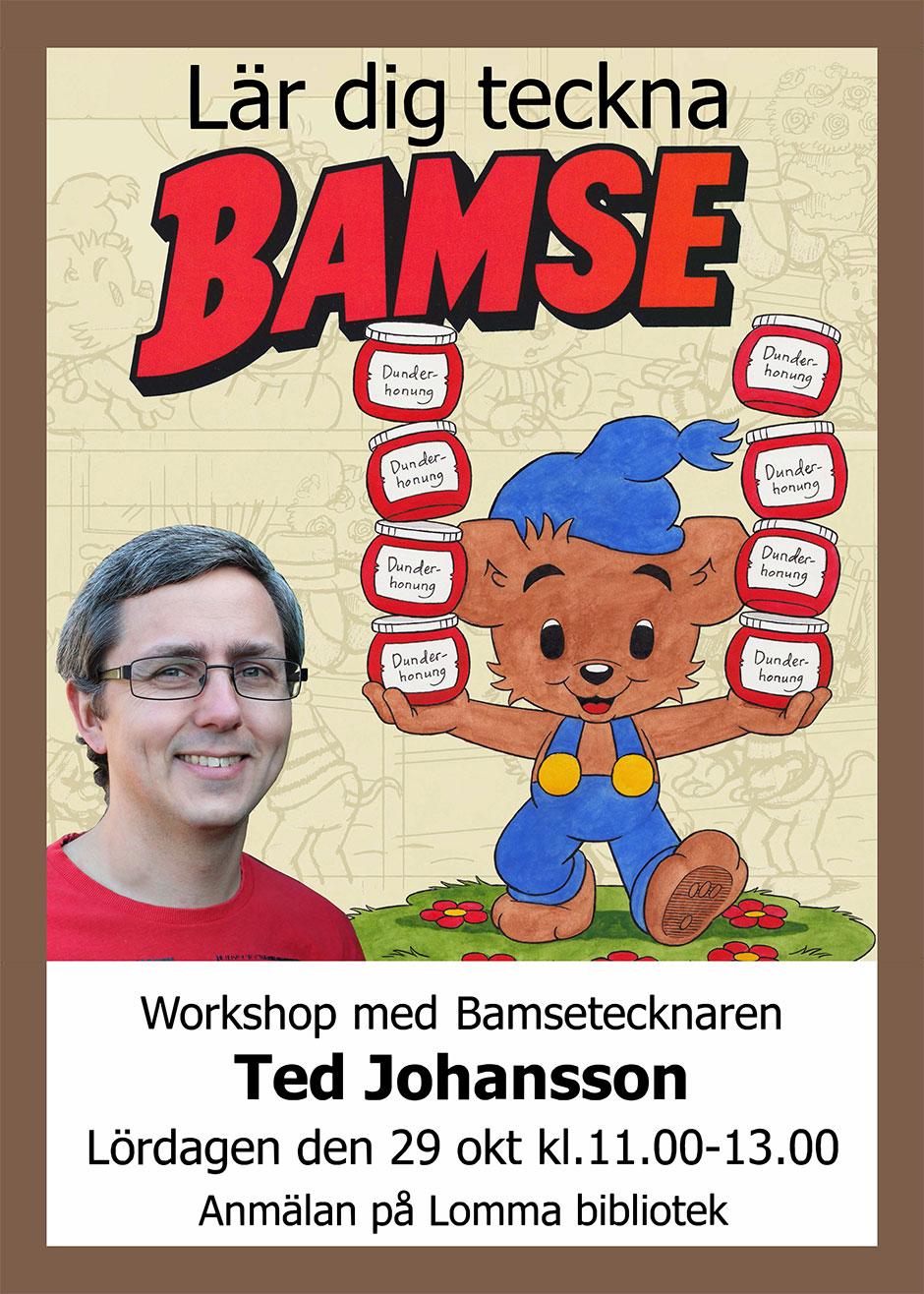 Ted Johansson, Workshop, Lomma Konstförening